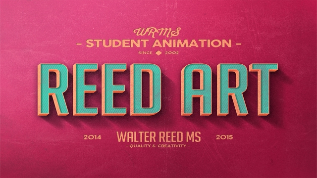 Reed Art Title Card Logo 2014_15