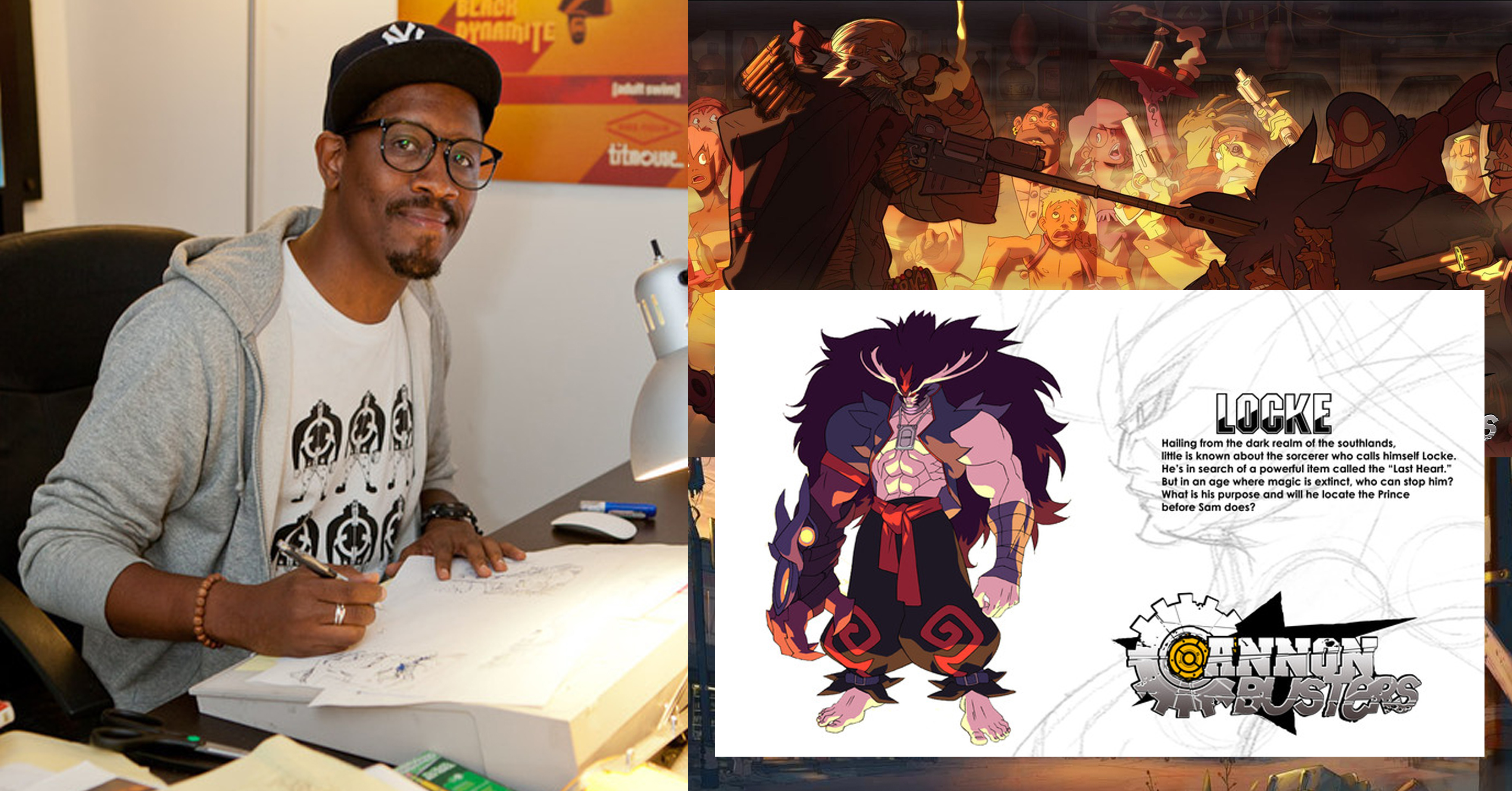 Lesean Thomas Cannon Busters Cartooning Animation Wrms