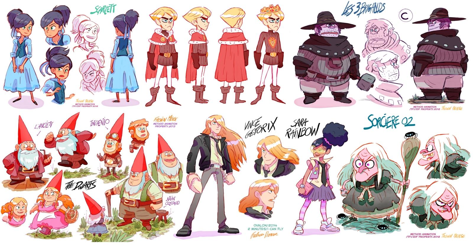 character design fabien mense cartooning animation