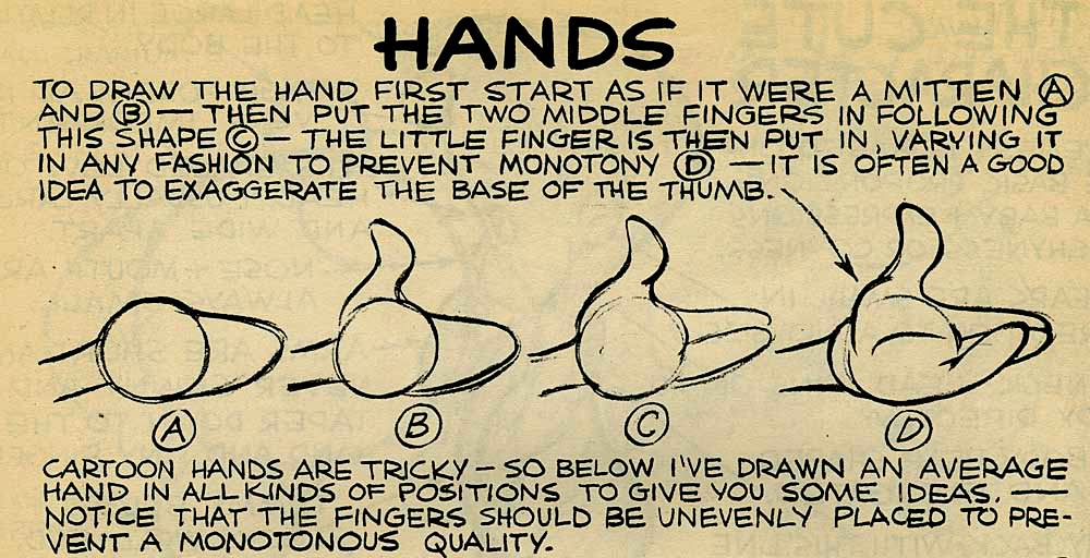 how to draw hands cartoon