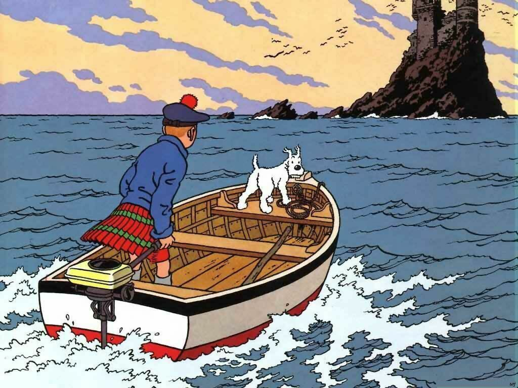 tintin in scotland