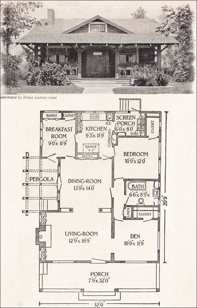 Bungalow Floor Plans 1900s 1920s